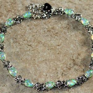 Jewelry - Green Fire Opal Teardrop Bracelet Jewelry